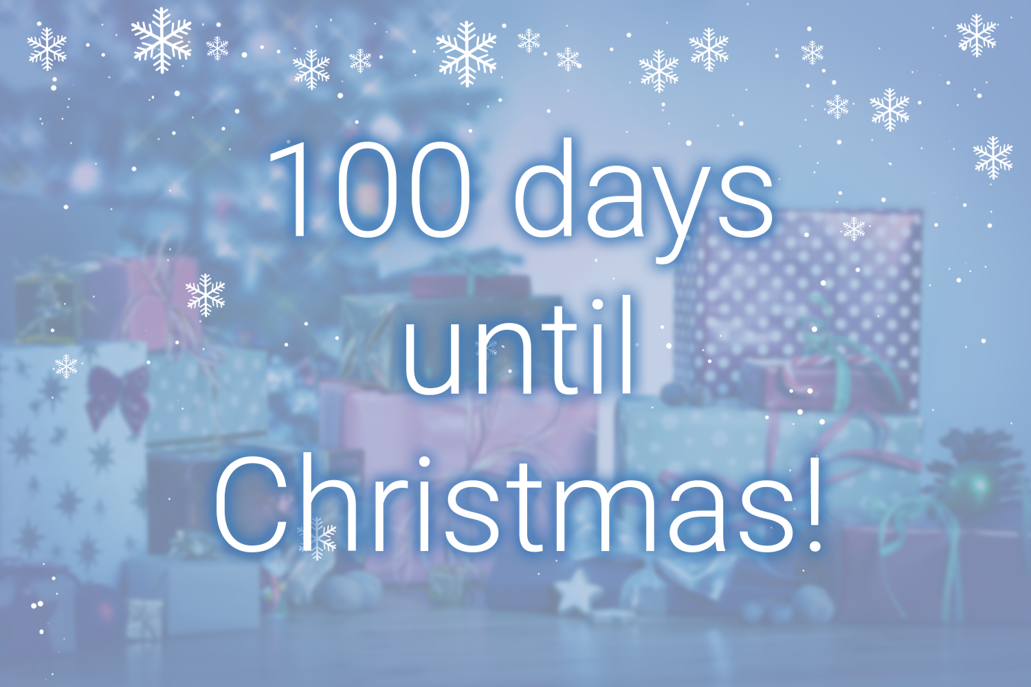 Save now - only 100 days until Christmas