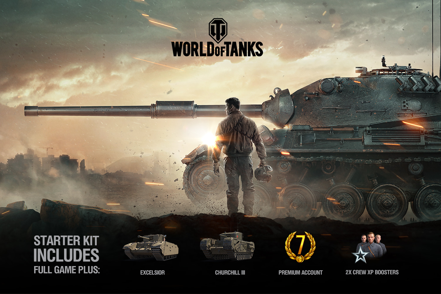 World of Tanks offers a free Starter Kit to all members