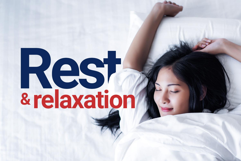 Get a good night's sleep...