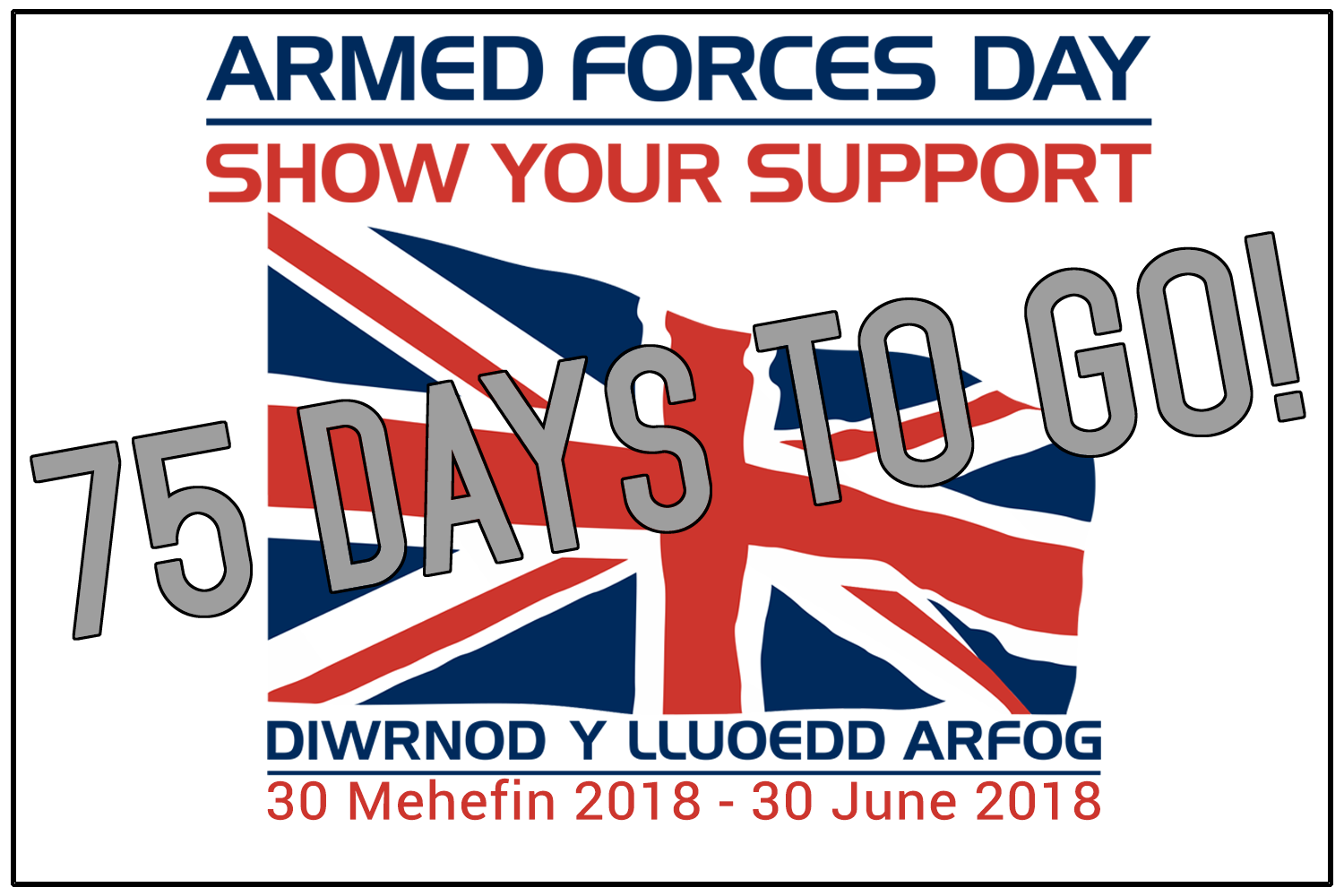 Armed Forces Day - 75 days to go