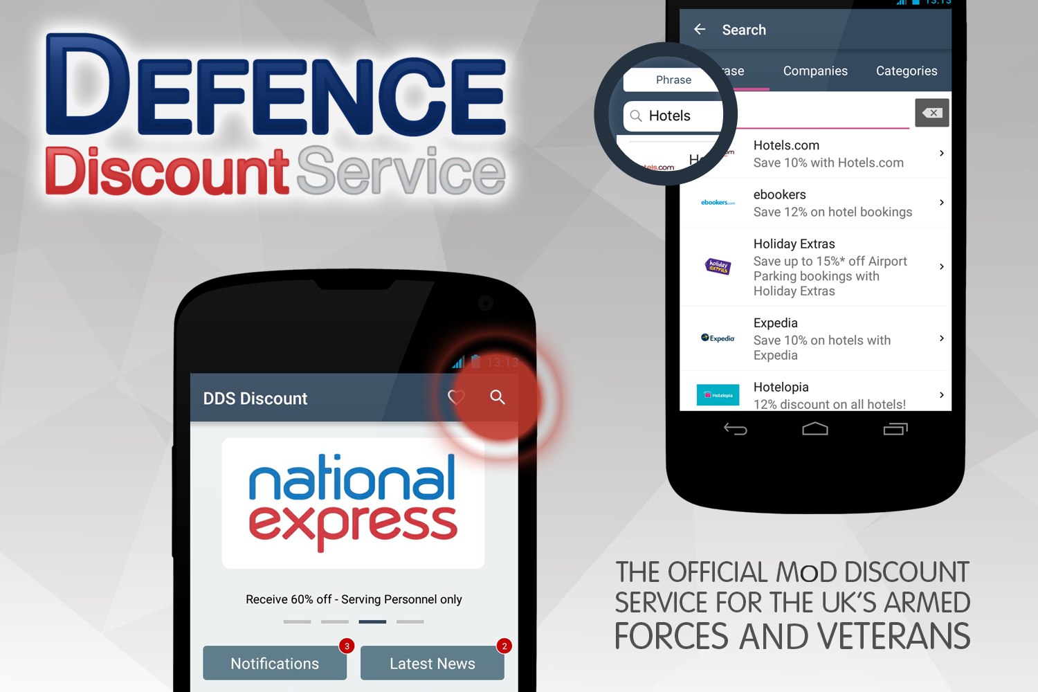 App updates from Defence Discount Service