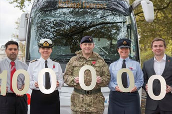 A million pound military milestone